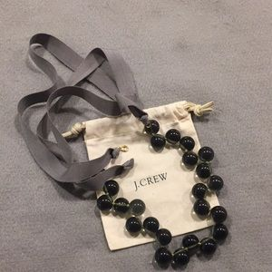 Jcrew bead and ribbon necklace